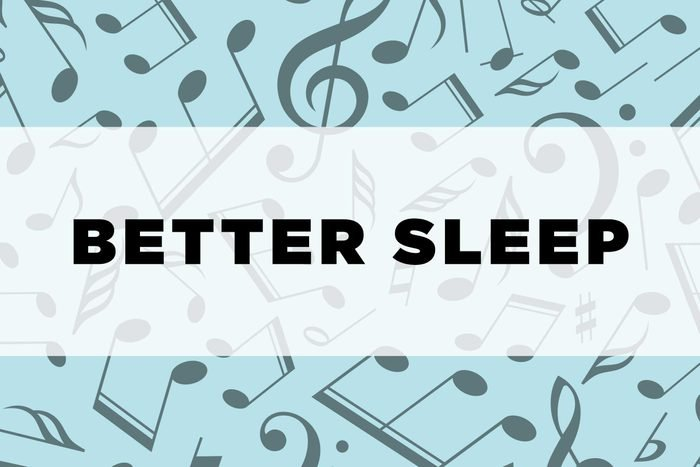 graphic text: Better sleep