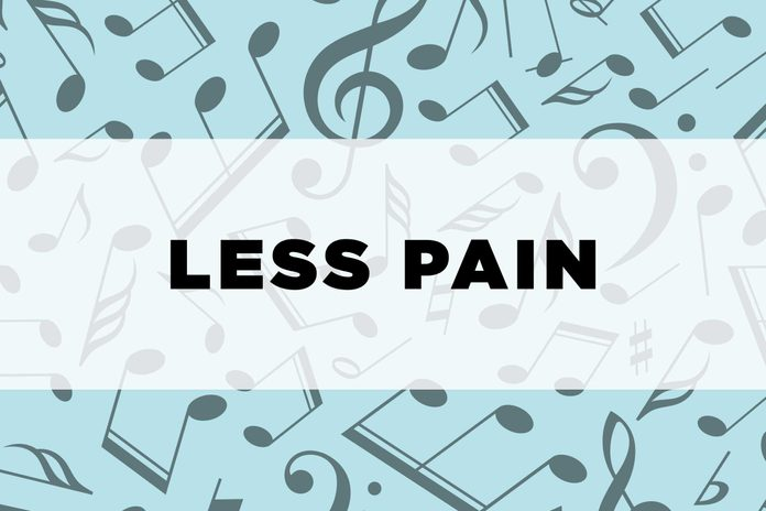 graphic text: Less pain