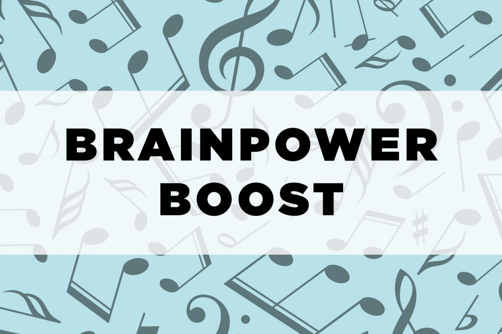 graphic text: Brainpower boost