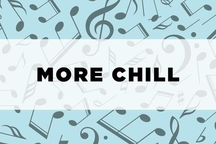 graphic text: more chill