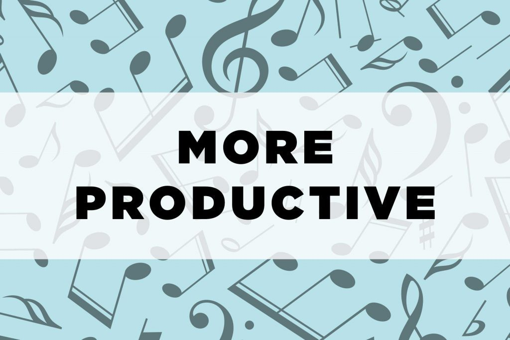 graphic text: More productive