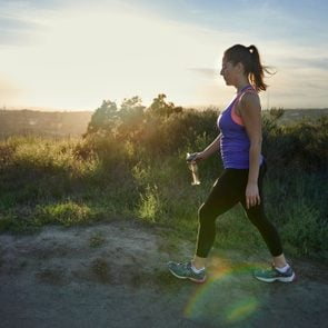 woman on a walk for daily exercise