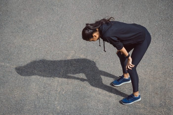 woman tired after exercise