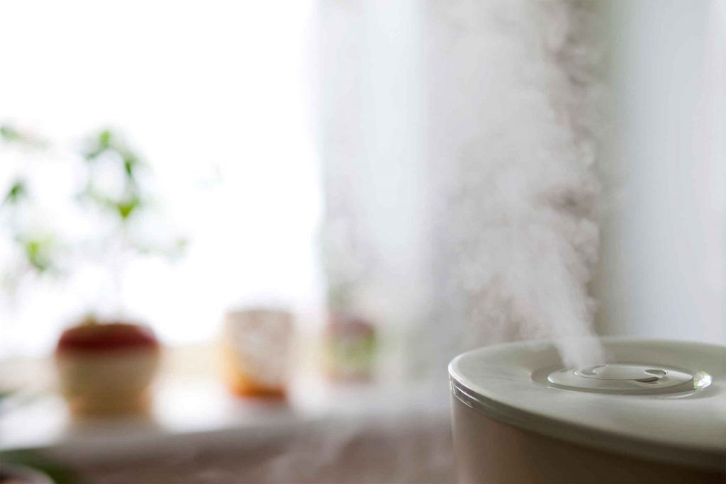humidifier blowing steam