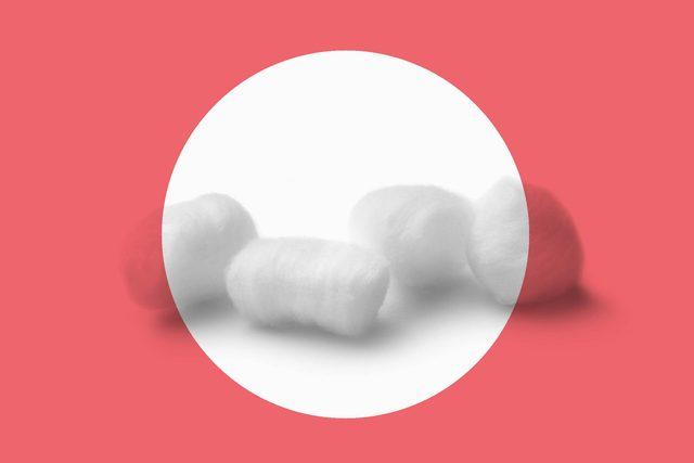 four cotton balls