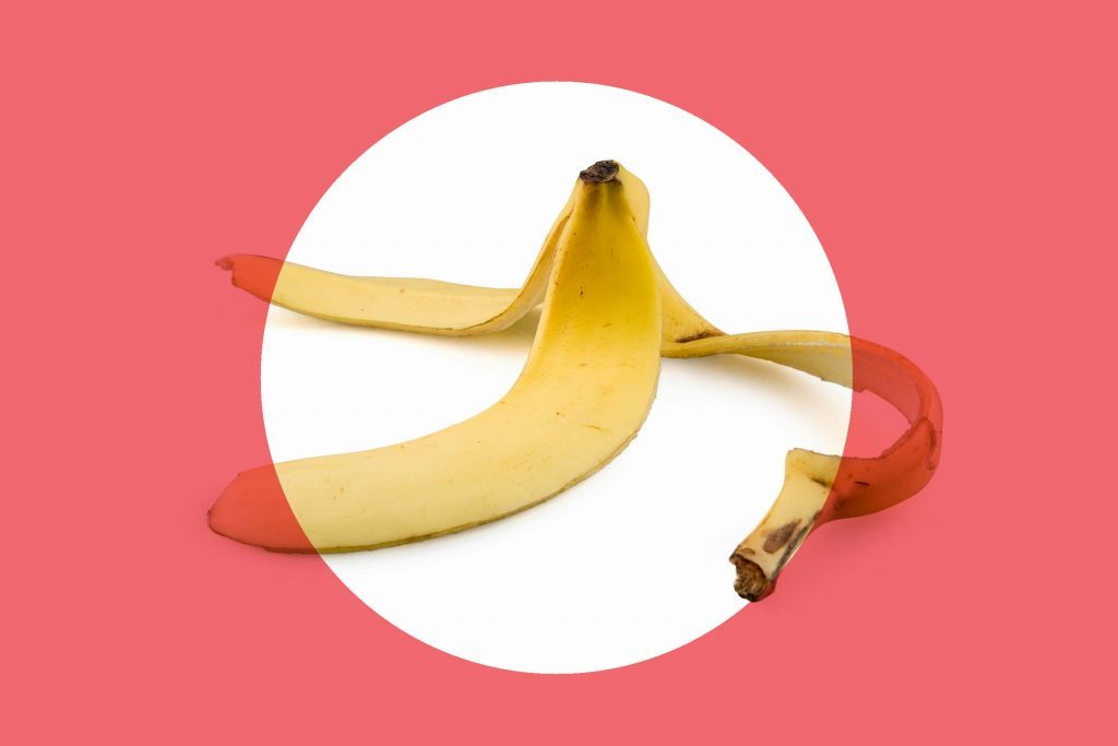 empty banana peel