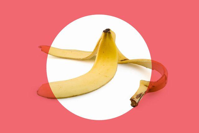 empty banana peel