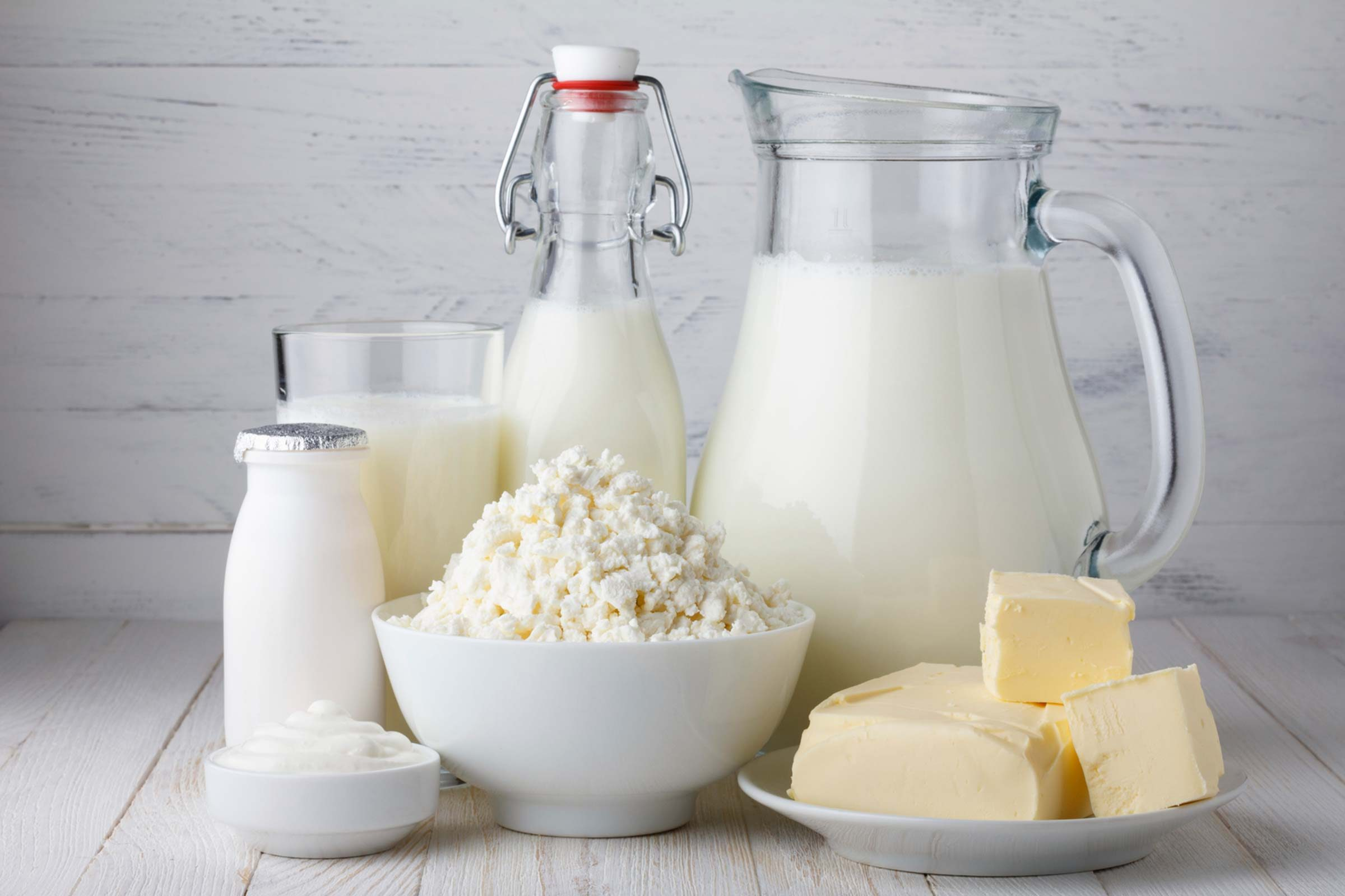 milk, butter, cottage cheese, yogurt and other dairy products