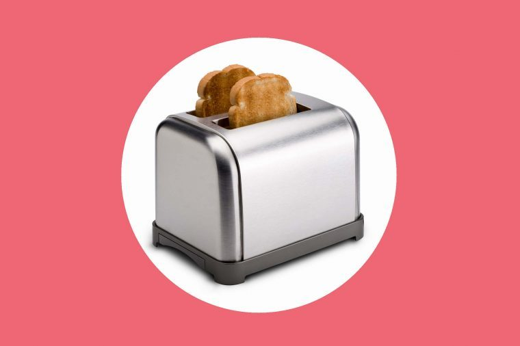 Toast popping out of toaster