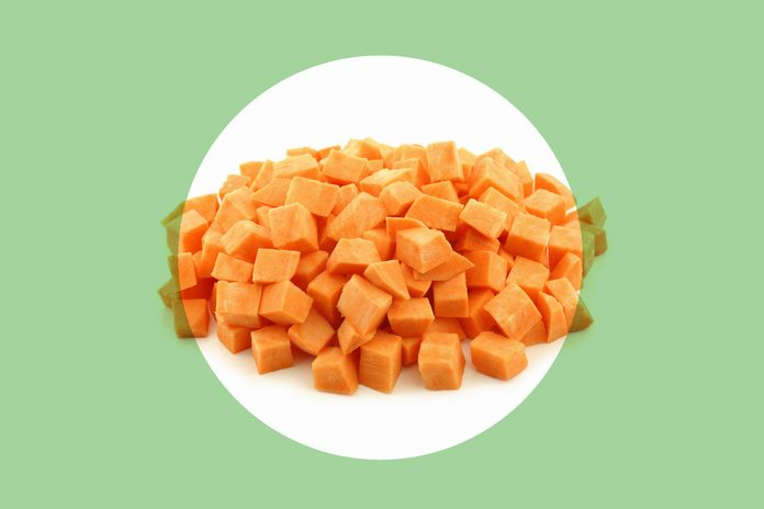 Sweet potatoes cubed