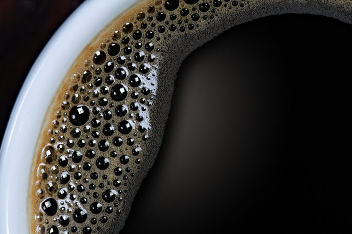 close up shot of black coffee