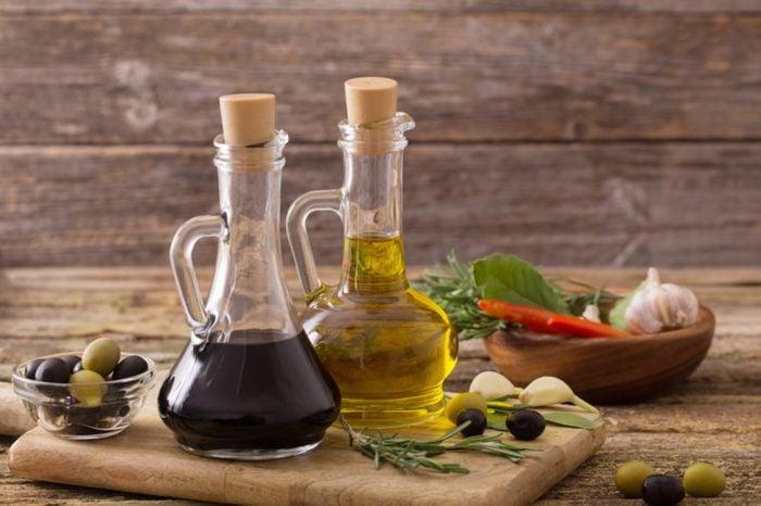 balsamic vinegar and oil