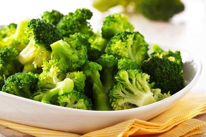 plate of broccoli