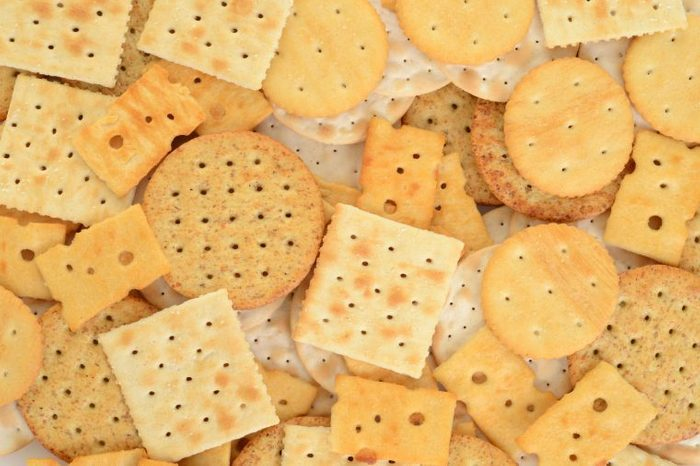 assortment of crackers