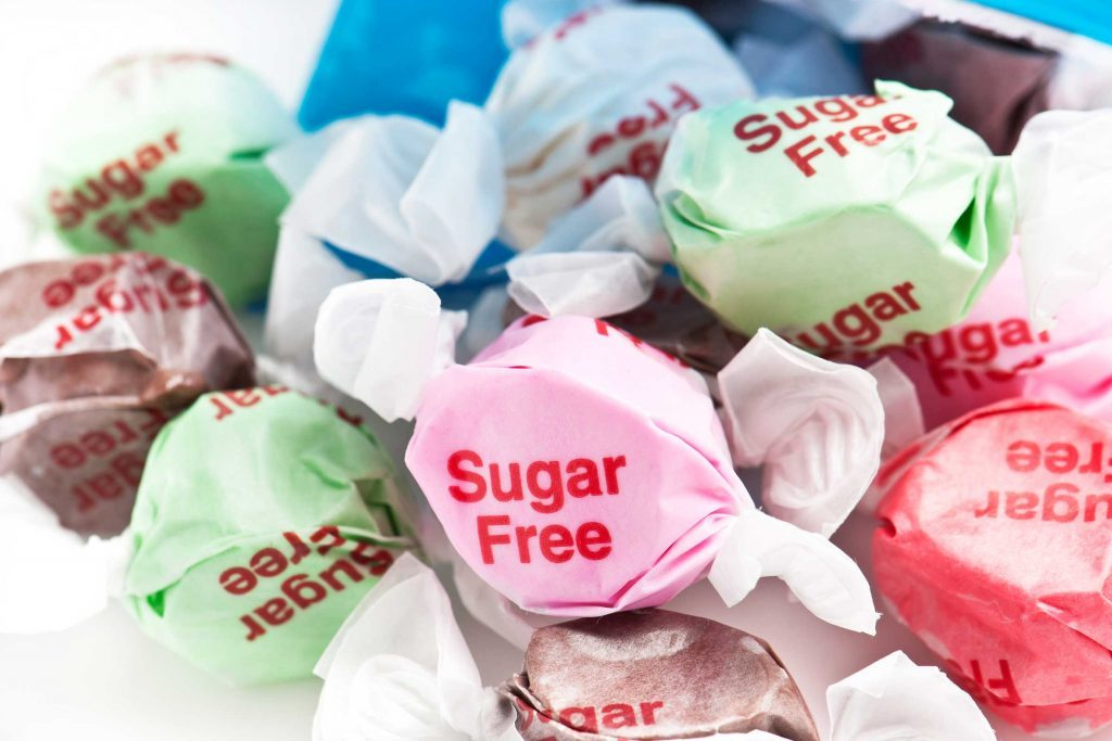 assorted sugar-free candies