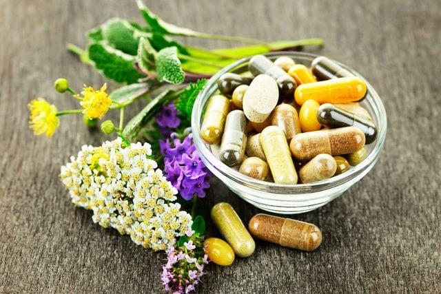 Vitamins and herbs.