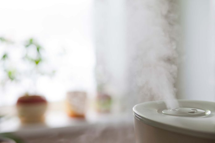 Mist from a humidifier.