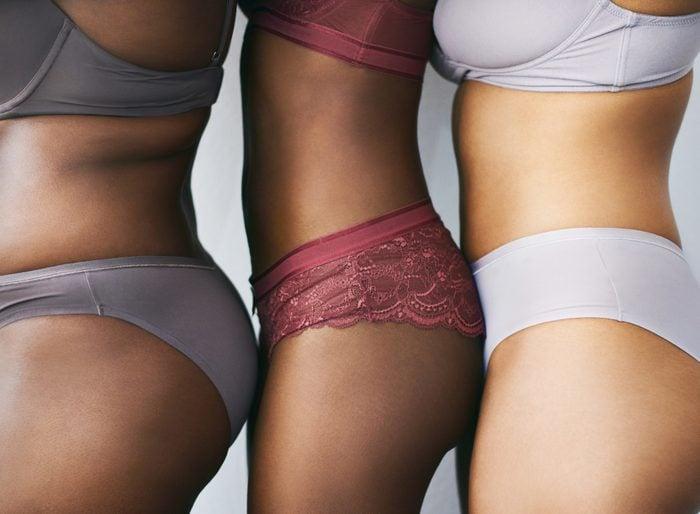 close up of women in underwear
