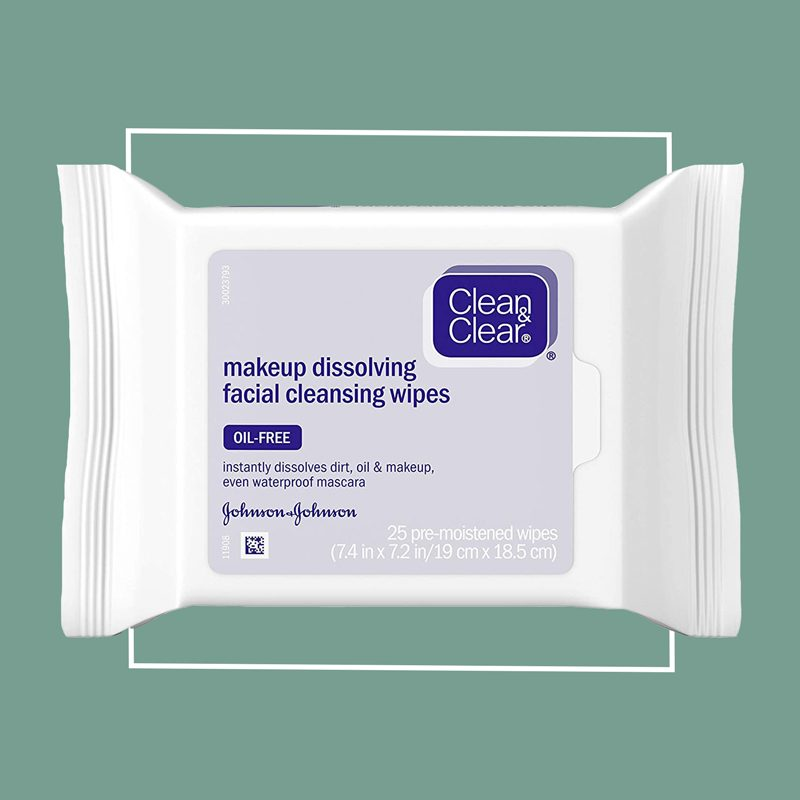 clean and clear makeup dissolving facial cleansing wipes