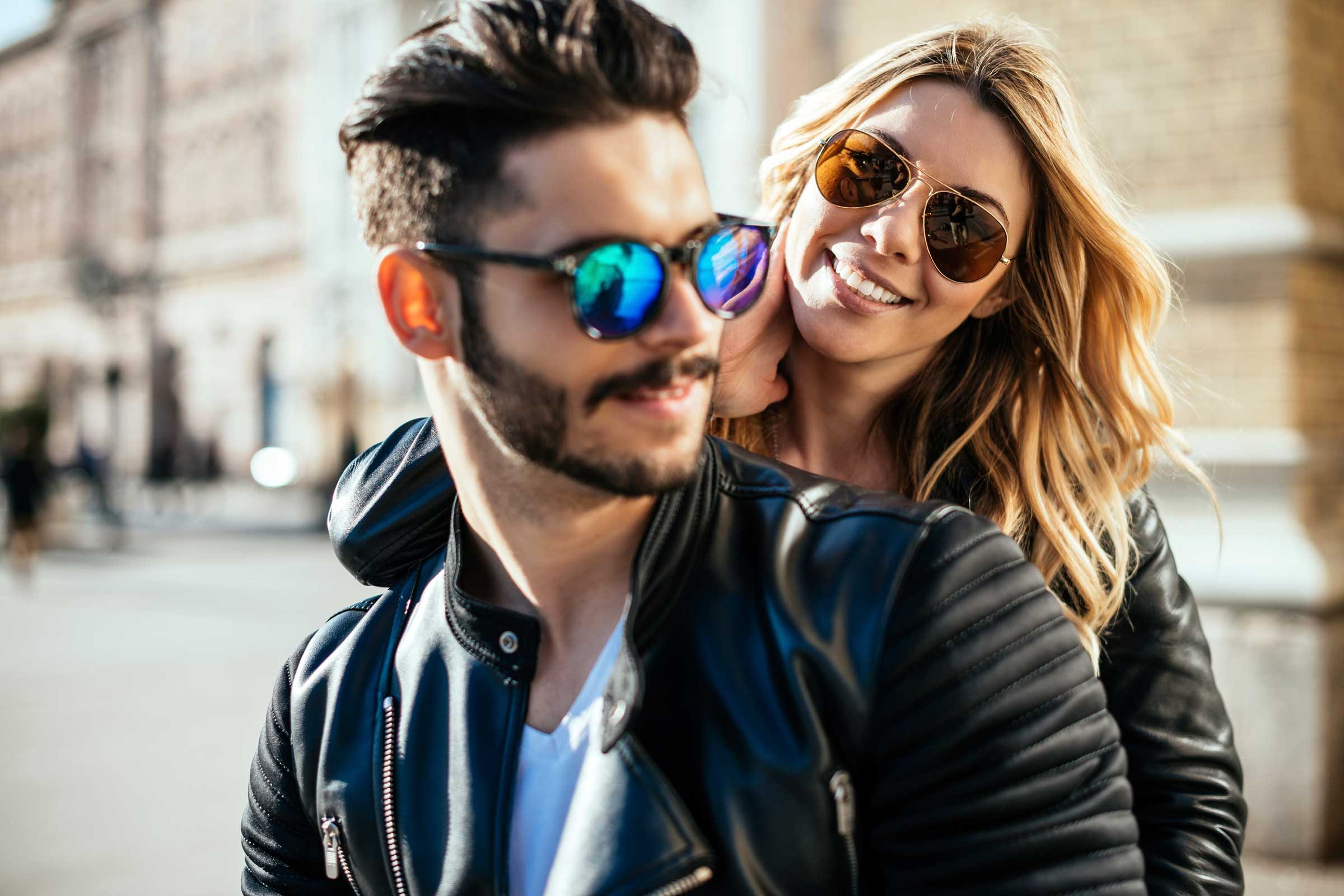 woman and man wearing sunglasses