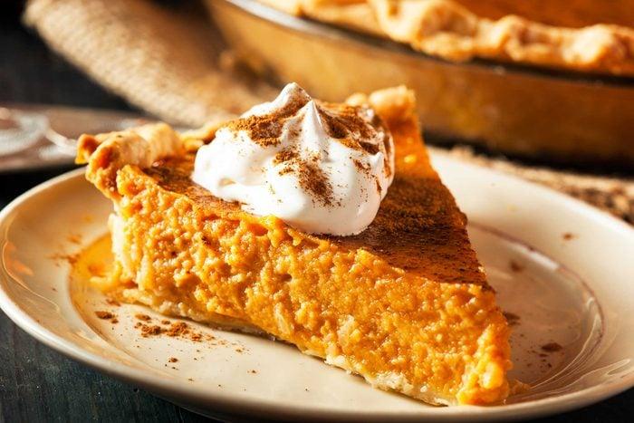 slice of pumpkin pie