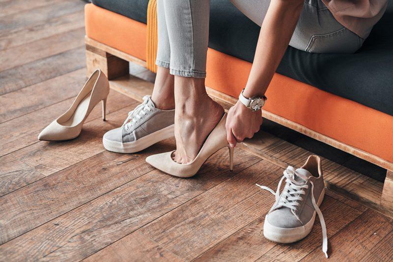 heels or sneakers concept