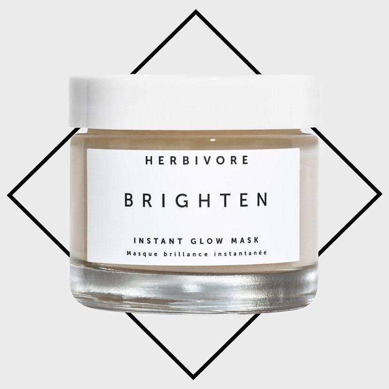 herbivore brighten instant glow face mask