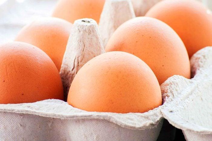 brown eggs in a carton