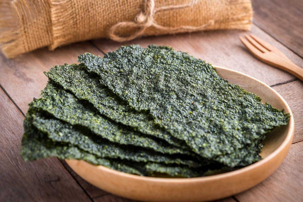 seaweed on a plate
