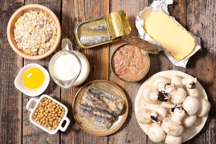 mushrooms, canned sardines, garbanzo beans, tuna, and other vitamin D sources