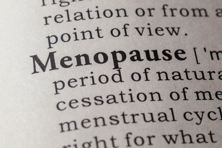 Picture of the dictionary definition of menopause.