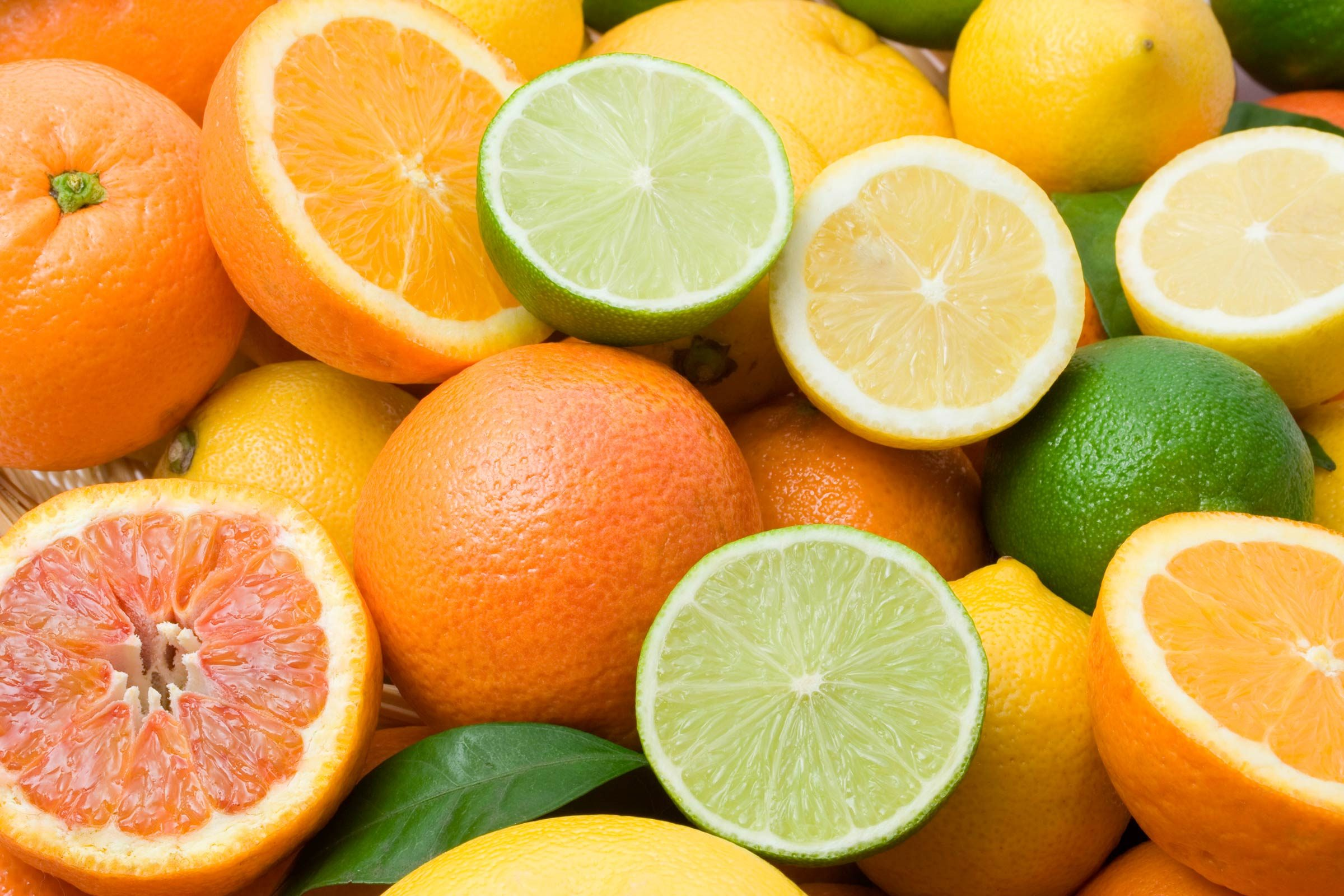 oranges and limes and citrus fruits