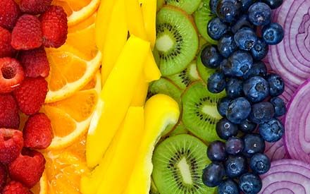 The Healthiest Food from Every Color of the Rainbow