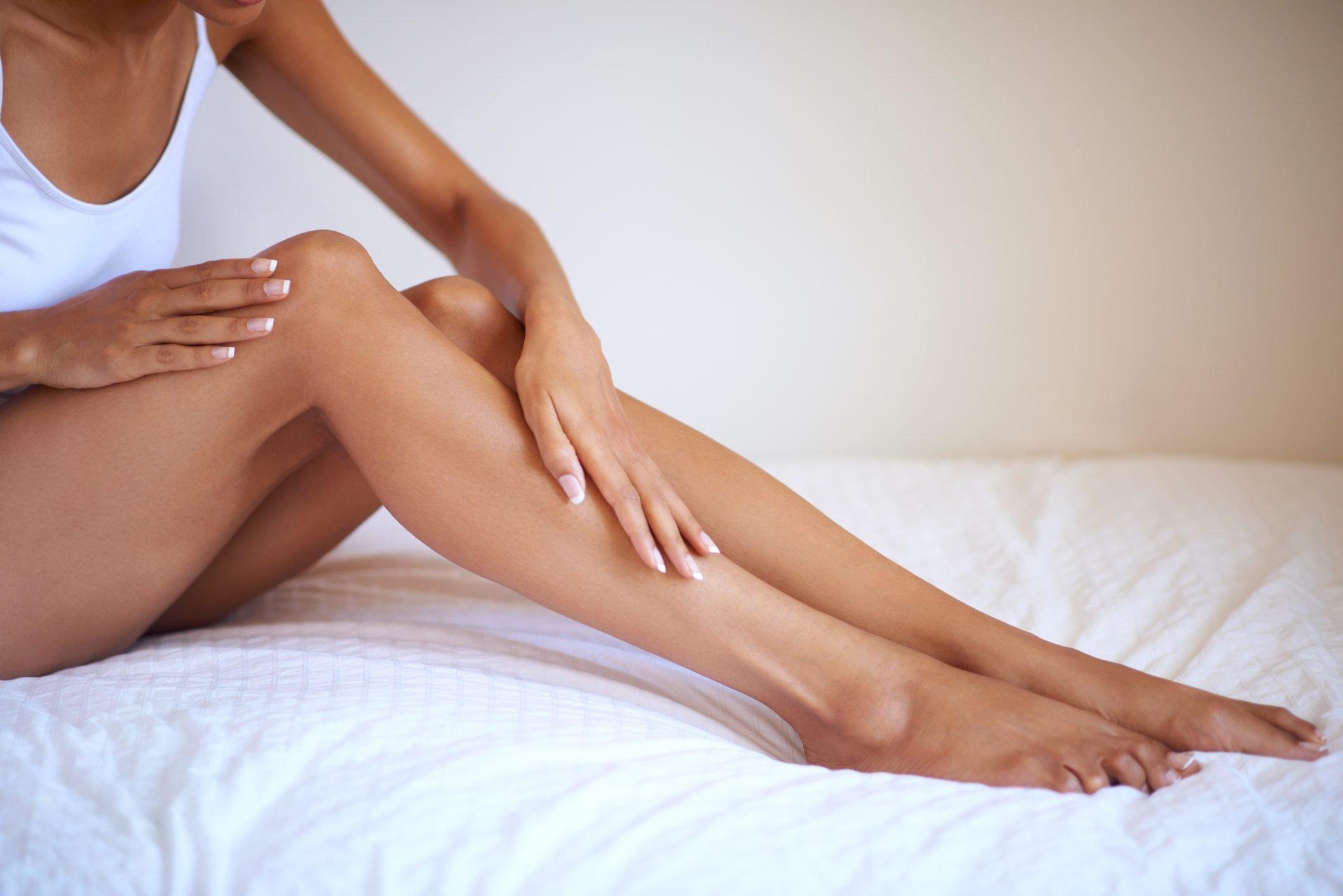 woman's soft legs
