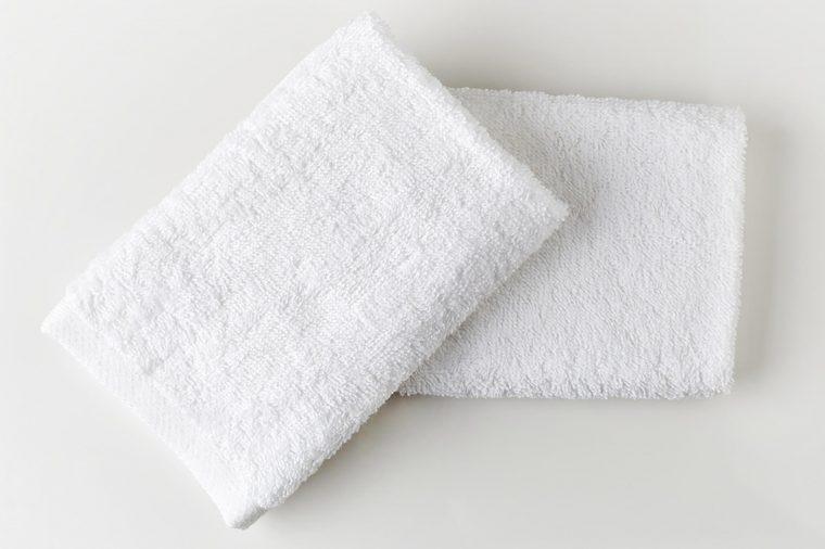 White washcloths.