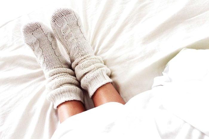 feet in socks