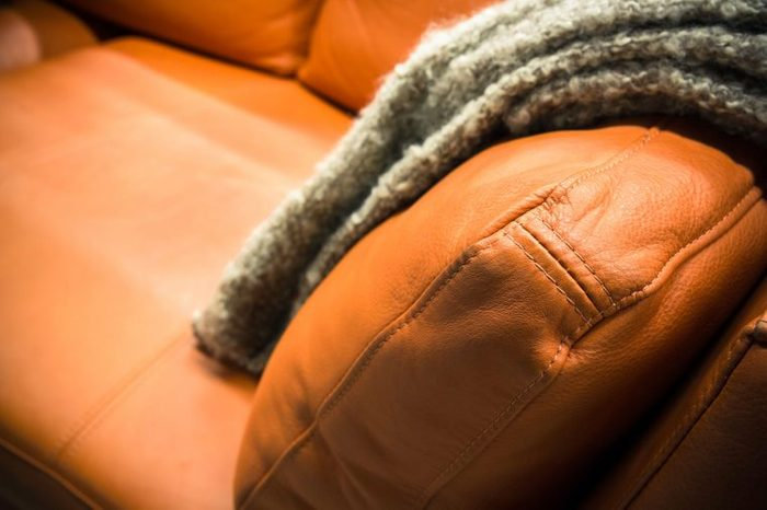 couch and blanket