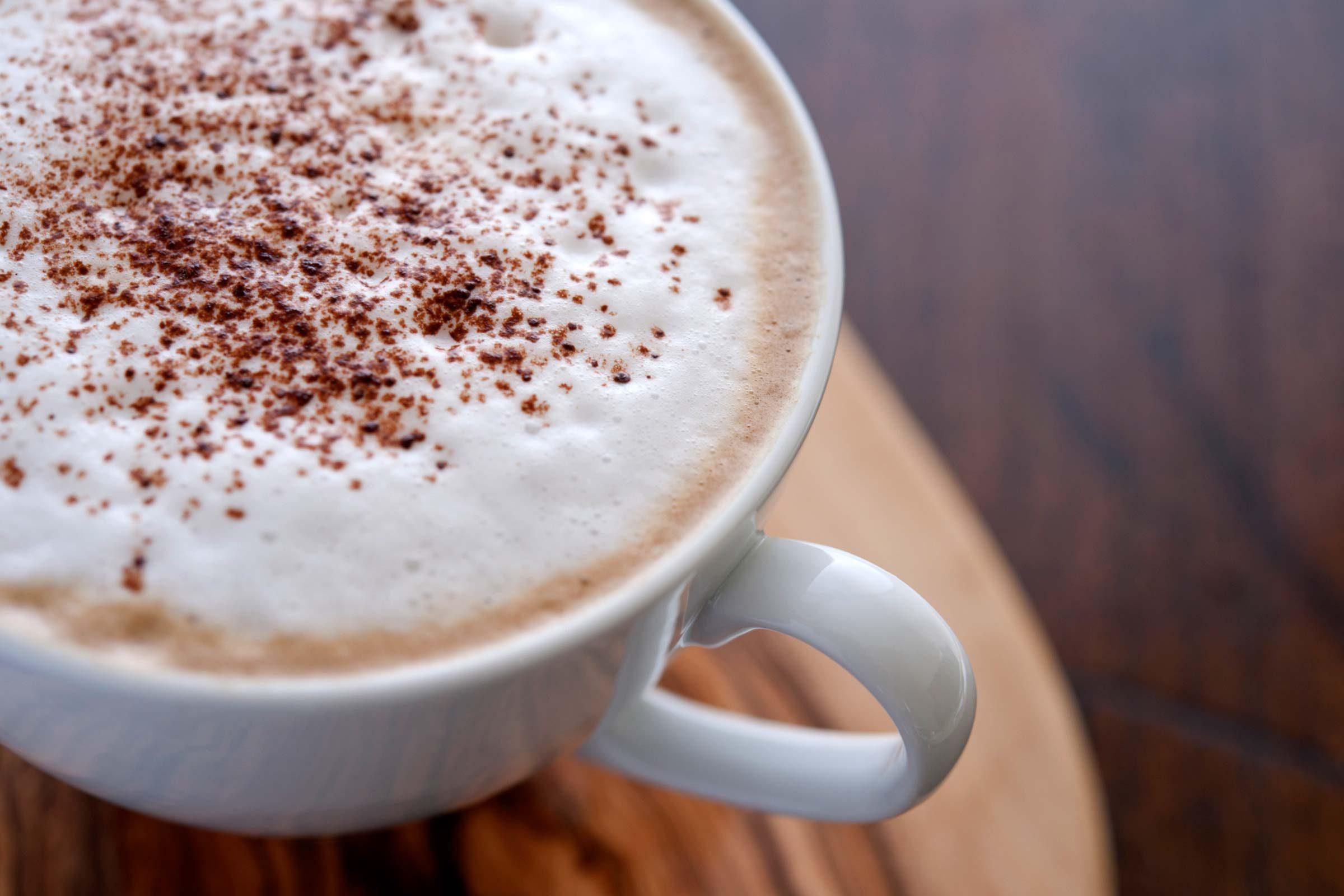 mug filled with hot liquid