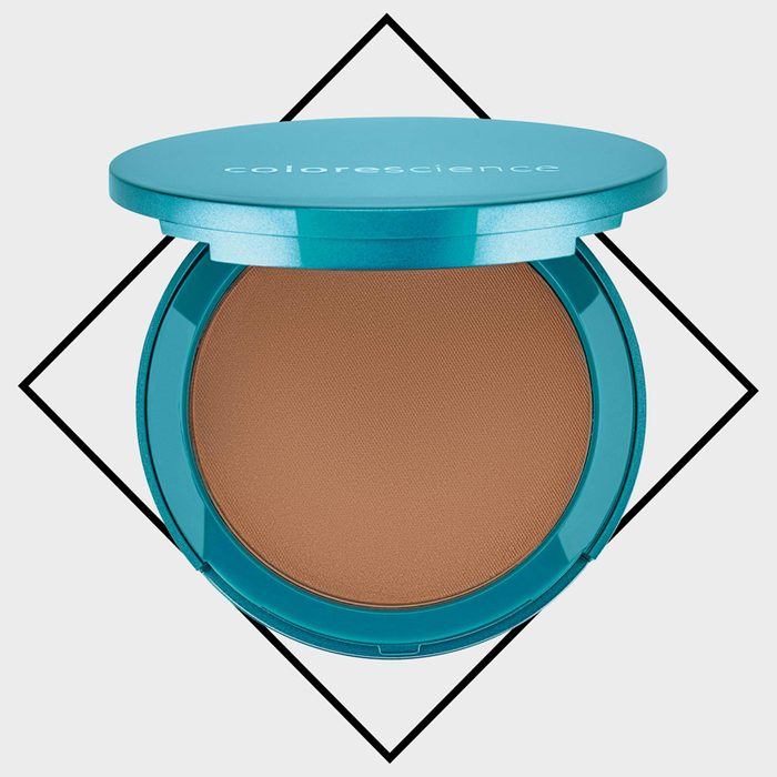 colorescience natural finish pressed foundation with SPF