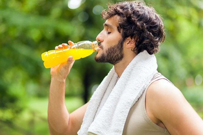 Man having sports drink