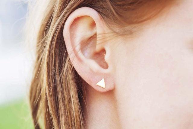 closeup of woman's ear