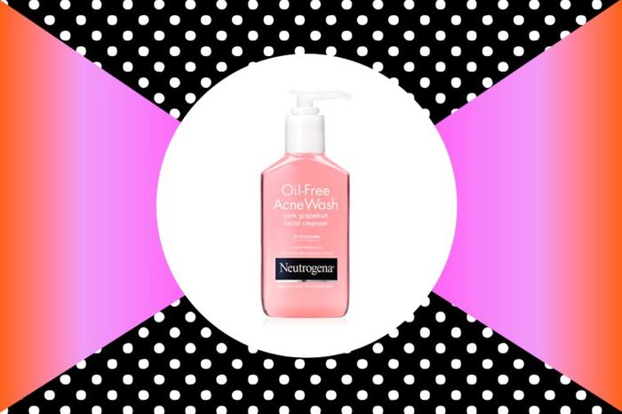 Oil-free acne wash pink grapefruit facial cleanser acne treatment by Neutrogena.