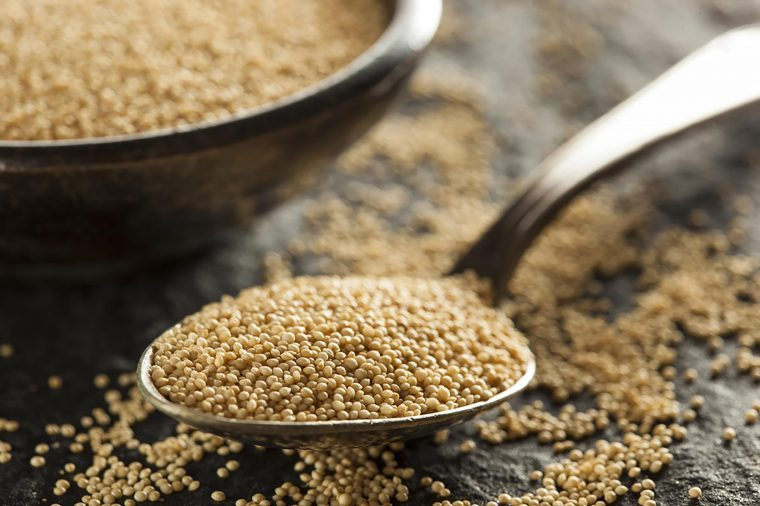Spoonful of grain.