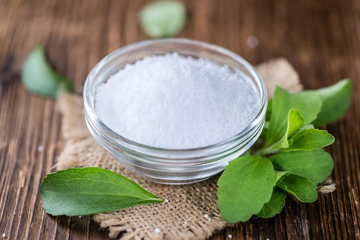 stevia sweetener in bowl