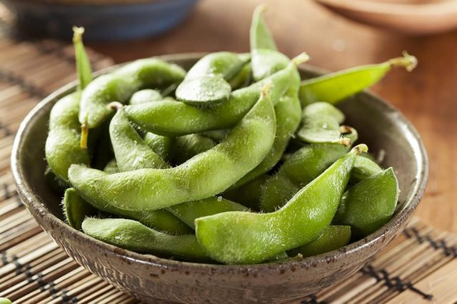 whole edamame in the shell