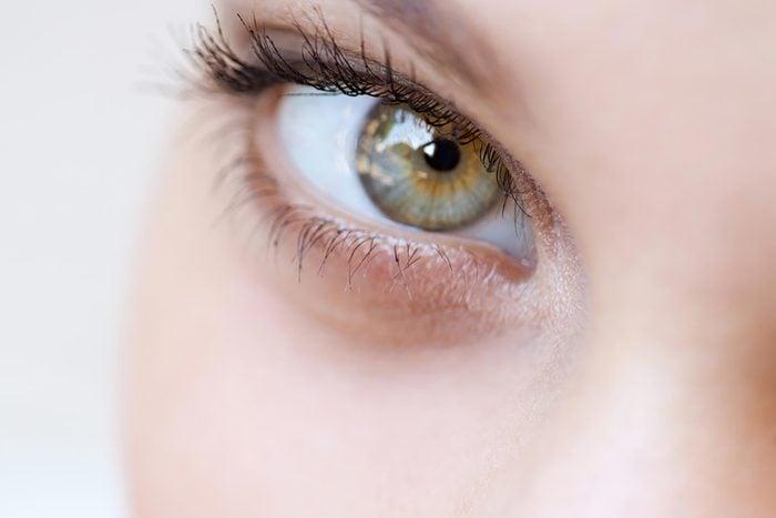 gray eye close up