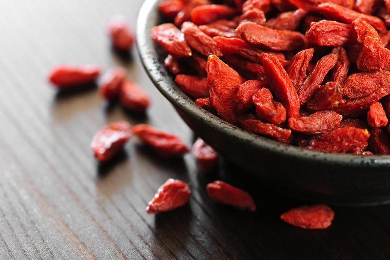 Bowl of goji berries.