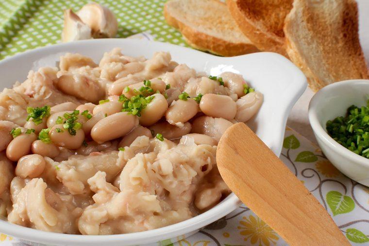 White bean dip.