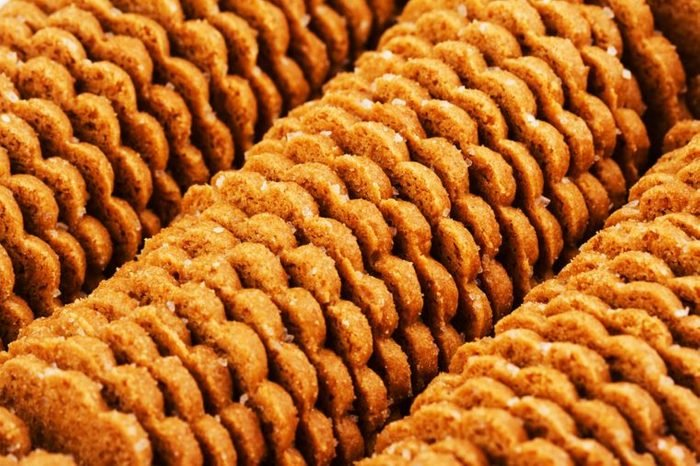 rows of store-bought cookies