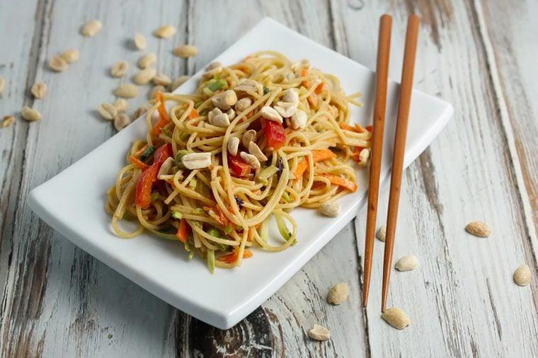 Thai noodle dish.